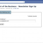 How to add a MailChimp Newsletter signup box to your Facebook Page