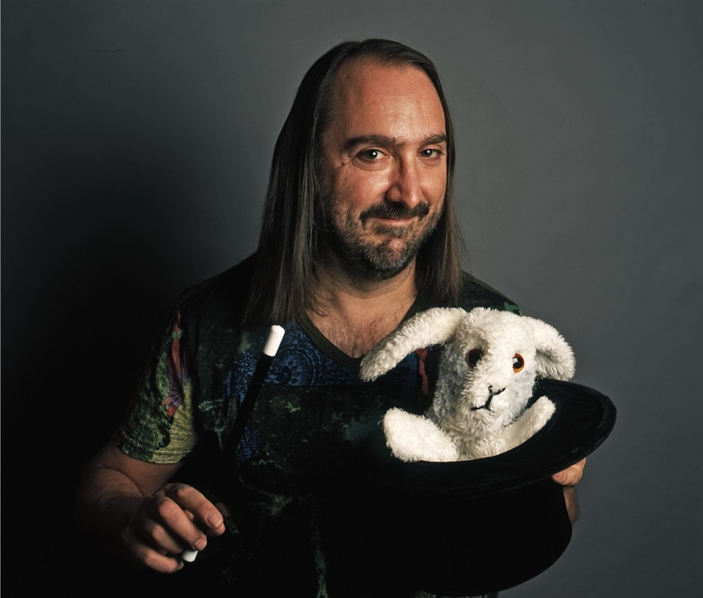 Mark Lairen Young with bunny in colour high res 1024x871 #WritersOnWriting 9: Mark Leiren Young