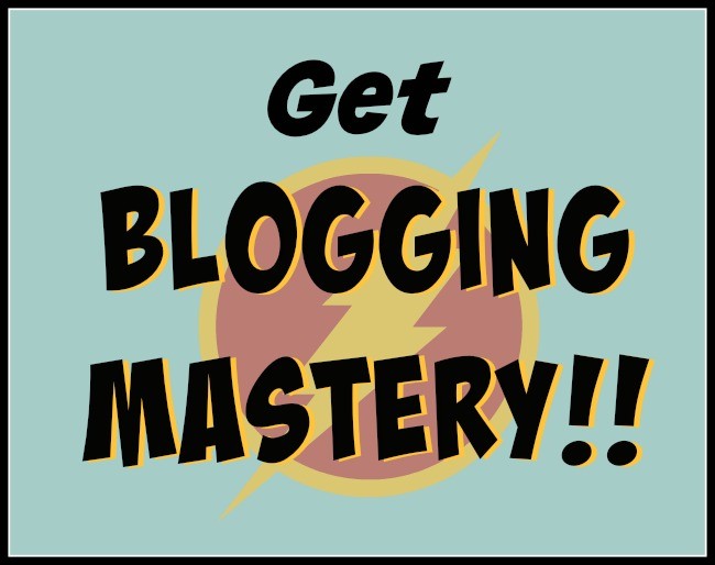 Sign up for my new e-newsletter, Blogging Mastery! Each month, I'll scour the web for the best articles on blogging, and share them with you.