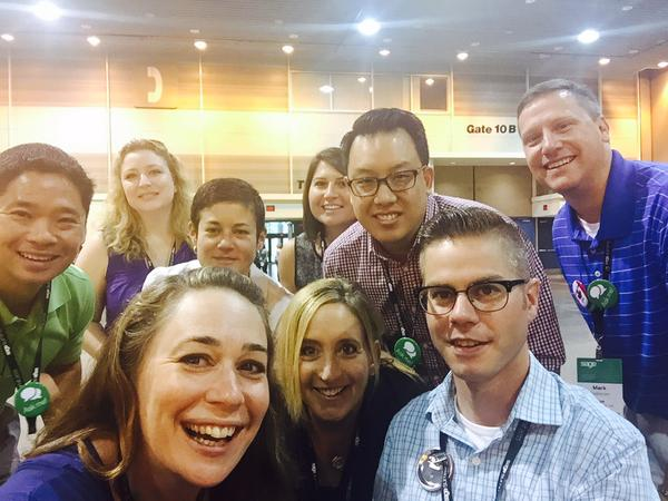 Hangin' with the cool kids at #SageSummit (aka the Sage Social Team). Photo by @sandyabrams